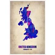 iCanvas ''United Kingdom Watercolor Map'' Canvas Wall Art by Naxart; 40'' H x 26'' W x 1.5'' D