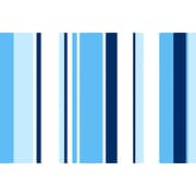 iCanvas True Baby Blue Striped Graphic Art on Wrapped Canvas; 12'' H x 18'' W x 0.75'' D