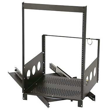 Raxxess Extra Deep Pull-Out and Rotating Rack; 15U