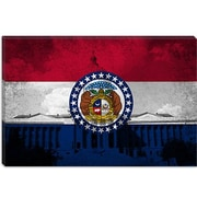 iCanvas Missouri Flag, Grunge State Capitol Graphic Art on Canvas; 18'' H x 26'' W x 1.5'' D