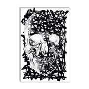 iCanvas Modern Black Splatter Skull Graphic Art on Canvas; 26'' H x 18'' W x 1.5'' D