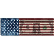 iCanvas American Flag One Dollar Bill, Stripes Graphic Art on Canvas; 16'' H x 48'' W x 1.5'' D