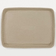 Chinet Savaday Molded Fiber Rectangular Food Trays in White