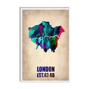 iCanvas Naxart 'London Watercolor Map II' Graphic Art on Canvas; 12'' H x 8'' W x 0.75'' D