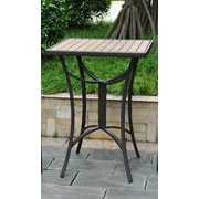 International Caravan Barcelona Wicker Resin/Aluminum Patio Table; Chocolate