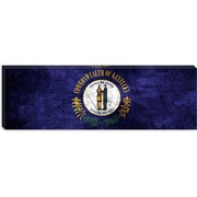 iCanvas Kentucky Flag, Cracks w/ Grunge Panoramic Graphic Art on Canvas; 16'' H x 48'' W x 1.5'' D