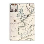 iCanvas Antique West Europe Map Graphic Art on Canvas; 18'' H x 12'' W x 0.75'' D