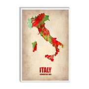 iCanvas Naxart Italy Watercolor Map Graphic Art on Canvas; 40'' H x 26'' W x 0.75'' D