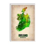 iCanvas 'Ireland Watercolor Map' by Naxart Graphic Art on Canvas; 18'' H x 12'' W x 0.75'' D