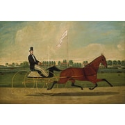 iCanvas 'Trotting Horse' by Charles Humphreys Painting Print on Canvas; 8'' H x 12'' W x 0.75'' D
