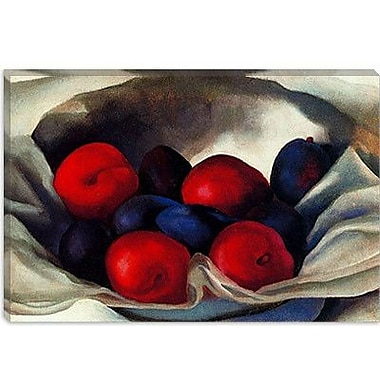 iCanvas 'Plums' by Georgia O'Keeffe Painting Print on Canvas; 26'' H x 40'' W x 1.5'' D