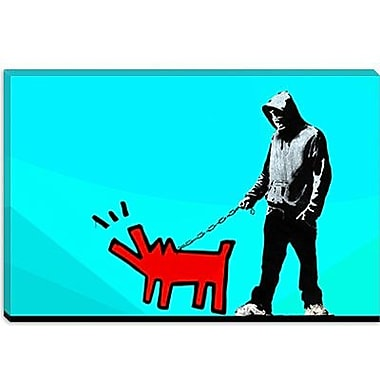 iCanvas Choose Your Weapon Keith Haring lV Graphic Art on Canvas; 26'' H x 40'' W x 0.75'' D