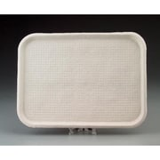 Chinet Savaday Molded Fiber Flat Food Tray in White