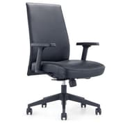 Whiteline Imports Columbia Low-Back Executive Chair; Black