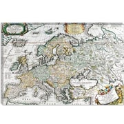 iCanvas Antique Map of Europe Graphic Art on Canvas; 18'' H x 26'' W x 0.75'' D