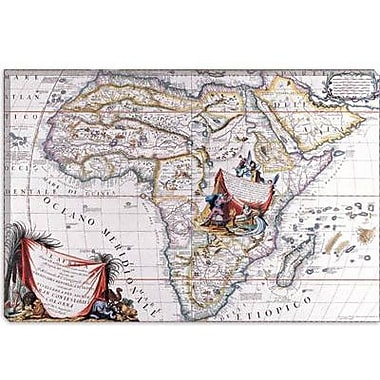 iCanvas Antique Map of Africa Graphic Art on Canvas; 12'' H x 18'' W x 0.75'' D