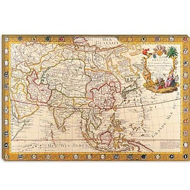 iCanvas Antique Map of Asia Graphic Art on Canvas; 12'' H x 18'' W x 0.75'' D