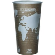 ECO-PRODUCTS World Art Renewable Resource Compostable Hot Drink Cup in Tan