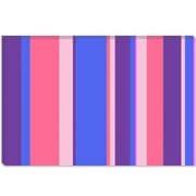 iCanvas Striped Candy Bubble Gum Graphic Art on Canvas; 18'' H x 26'' W x 0.75'' D
