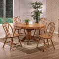 ECI Rustic Oak Round Single Pedestal Table; Solid Oak