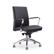 Whiteline Imports Clemson Low-Back Office Chair; Black