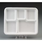 Chinet Heavy-Weight Molded Fiber Caf  Tray with 5 Compartment