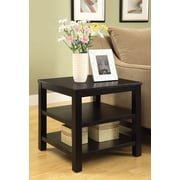 Ave Six Merge End Table; Black