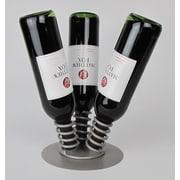 Metrotex Designs 3 Bottle Tabletop Wine Display Rack