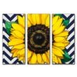 Obvious Place Sunflower 3 Piece Painting Print on Canvas Set