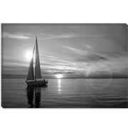 iCanvas Sailboat Photographic Print on Canvas in Black/White; 8'' H x 12'' W x 0.75'' D