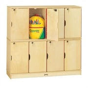 Jonti-Craft ThriftyKYDZ 8-Section Double Stack Lockable Lockers