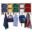 Steffy 10 Section Wall Locker with Tray; Colored