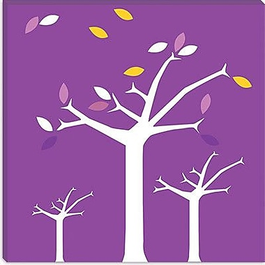 iCanvas Autumn Trees Graphic Art on Wrapped Canvas in Purple; 12'' H x 12'' W x 0.75'' D