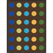 Joy Carpets Lots of Dots  Kids Rug; Oval 7'8'' x 10'9''