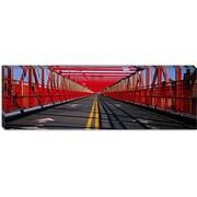 iCanvas Panoramic Arrow Signs on a Bridge, Williamsburg Bridge Photographic Print on Canvas