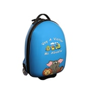 Mercury Luggage ''Voy A Visitar Mi Abuela'' Animals Children's Luggage; Blue