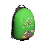 Mercury Luggage ''Voy A Visitar Mi Abuela'' Animals Children's Luggage; Green