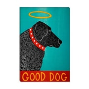 iCanvas Good Dog by Stephen Huneck Graphic Art on Canvas in Black; 18'' H x 12'' W x 0.75'' D