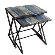 Gallerie Decor Soho 2 Piece Nesting Tables; Blue