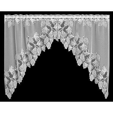 Heritage Lace Woodland Swag 68'' Curtain Valance; White