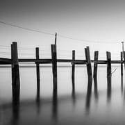 iCanvas China Camp Pano, by Moises Levy Part 1 of 3 Photographic Print on Canvas in Gray