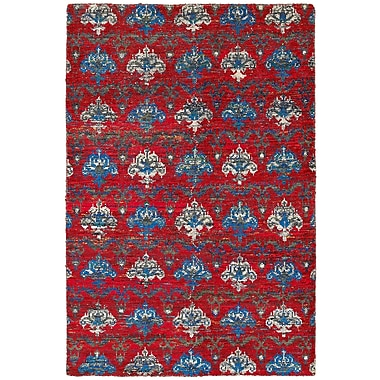 LR Resources Rajani Red Rug; 4' x 6'