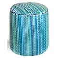 Fab Rugs World Cancun Pouf; Turquoise/Moss Green