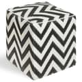 Fab Rugs World Laguna Cube Ottoman; Black/White
