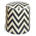 Fab Rugs World Laguna Ottoman; Sand/Black
