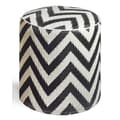 Fab Rugs World Laguna Pouf; Black/White