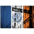 iCanvas Flags New York Wall Street and Broadway Graphic Art on Canvas; 12'' H x 18'' W x 0.75'' D