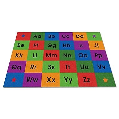 Kid Carpet Row by Row Alphabet Kids Rug; 4' x 6'