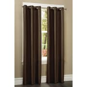 Maytex Blackout Single Curtain Panel; Brown