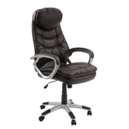 Innovex Imperium High-Back Leather Executive Office Chair; Brown